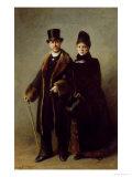 Heinrich Schliemann (1822-90) and His Wife Premium Giclee Print by Eugene Broerman