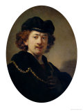 Self Portrait with Hat and Gold Chain, 1633 Giclee Print by  Rembrandt van Rijn