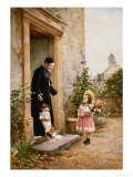 The Priest's Birthday Giclee Print by V. Chevilliard