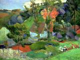 Paysage à Pont-Aven, 1888 Impression giclée par Paul Gauguin