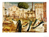 St. Jerome and Lion in the Monastery, 1501-09 Giclée-tryk af Vittore Carpaccio