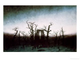 Abbey in the Oakwood, 1810 Premium Giclee Print by Caspar David Friedrich