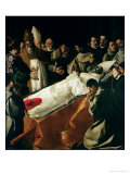 The Exhibition of the Body of St. Bonaventure (1221-74) after 1627 Giclee Print by Francisco de Zurbar&#225;n