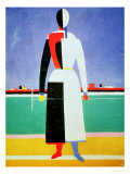 Woman with a Rake, circa 1928-32 Giclee Print by Kasimir Malevich
