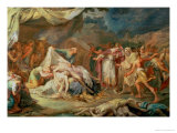 Cyrus the Great Before the Bodies of Abradatus and Pantheus Premium Giclee Print by Vicente Lopez y Portana