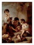 Boys Playing Dice, circa 1670-75 Giclee Print by Bartolome Esteban Murillo
