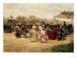 The Flower Sellers, 1883 Giclee Print by Ludovico Marchetti