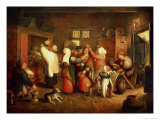 Peasant Wedding Giclee Print by Martin Van Cleve