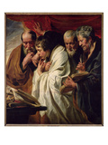 The Four Evangelists (Oil on Canvas) Giclee Print by Jacob Jordaens
