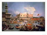 Return of the Bucintoro on Ascension Day Giclée-tryk af  Canaletto