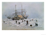 Hms Terror as She Appeared after Being Thrown up by the Ice in Frozen Channel, September 27th 1836 Giclee Print by Lieutenant Smyth