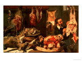 The Butcher's Shop Giclee Print by Frans Snyders