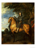 Equestrian Portrait of Charles I (1600-49) circa 1637-38 Giclee Print by Sir Anthony Van Dyck