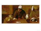Kitchen Maid with the Supper at Emmaus, circa 1618 Giclee Print by Diego Vel&#225;zquez