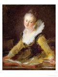 The Study, or the Song, circa 1769 Giclee Print by Jean-Honoré Fragonard