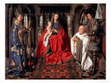 Madonna and Child with Canon Joris Van Der Paele, 1436 Giclée-tryk af Jan van Eyck
