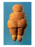 The Venus of Willendorf, Rear View of Female Figurine, Gravettian Culture Upper Palaeolithic Period Reproduction proc&#233;d&#233; gicl&#233;e