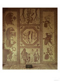 Mosaic Pavements, from the Roman Villa at Lowham, 350 Ad, Scenes from the Aeneid of Virgil Giclee Print
