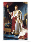 Napoleon I in His Coronation Robe, circa 1804 Reproduction procédé giclée par Francois Gerard