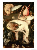 The Garden of Earthly Delights: Hell, Right Wing of Triptych, circa 1500 Impressão giclée por Hieronymus Bosch