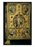 Gospel Cover, Gold with Repousse and Enamel Decoration, Set with Jewels, Russian, 12th Century Giclee Print