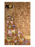 Expectation, Stoclet Frieze, c.1909 Gicléetryck av Gustav Klimt