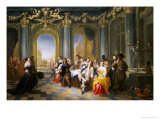 A Feast in an Interior Giclee Print by Hieronymus Janssens
