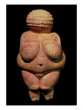 The Venus of Willendorf, Fertility Symbol, Pre-Historic Sculpture, 30000-25000 BC (Front View) Reproduction proc&#233;d&#233; gicl&#233;e