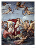 The Triumph of Galatea, 1512-14 Impression giclée par  Raphael