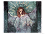 Head of an Angel, after Rembrandt, c.1889 Giclée-tryk af Vincent van Gogh