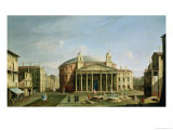 The Pantheon in Rome Giclee Print by Bernardo Bellotto