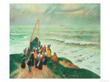 Waiting for the Return of the Fishermen in Brittany, 1894 Giclee Print by Henry Moret