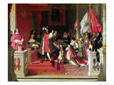 King Philip V (1683-1746) of Spain Making Marshal James Fitzjames (1670-1734) Giclee Print by Jean-Auguste-Dominique Ingres