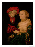 The Ill-Matched Couple Giclee Print by Lucas Cranach the Elder