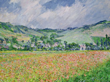 The Poppy Field Near Giverny, 1885 Premium Giclee Print by Claude Monet