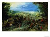 Raid on a Caravan of Wagons, 1612 Giclee Print by Jan Brueghel the Elder