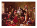 The Christmas Hamper Premium Giclee Print by Robert Braithwaite Martineau