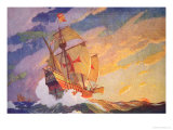 Columbus Crossing the Atlantic, 1927 Giclee Print by Newell Convers Wyeth