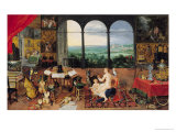 Hearing, 1617 Giclee Print by Jan Brueghel the Elder