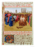 Supplication of the Heretics Giclee Print by Jean Fouquet