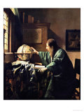 L'astronome, 1668 Reproduction procédé giclée par Jan Vermeer
