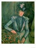 Woman in Blue (Madame Cezanne) 1900-02 Giclee Print by Paul Cézanne