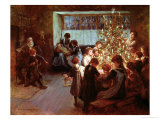 The Christmas Tree, 1911 Premium Giclee Print by Albert Chevallier Tayler