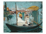 Monet in His Floating Studio, 1874 Giclee Print by Édouard Manet