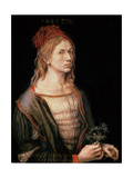 Self Portrait with a Thistle, 1493 Giclee Print by Albrecht Dürer