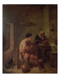 An Interior with Figures Giclee Print by Adriaen Brouwer