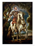 Equestrian Portrait of the Duke of Lerma (1553-1625) 1603 Giclee Print by Peter Paul Rubens