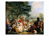 The Hunt Lunch, 1737 Giclee Print by Carle van Loo