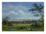 A View of Regent's Park and the Colosseum from Primrose Hill, 1832 Giclee Print by John Knox