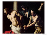 The Flagellation of Christ, circa 1605-7 Giclee Print by  Caravaggio